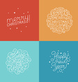 set of hand-lettering and titles for greeting vector image