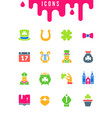 set simple icons st patricks day vector image
