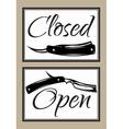 set vintage door signs for barber shop vector image vector image