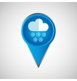 signal weather cloud snow pin design vector image vector image