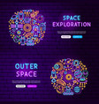 space website banners vector image vector image