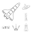 spaceship and ship sign vector image