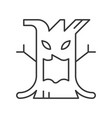 spooky tree halloween character design icon vector image vector image