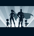 superhero family 2 boys vector image vector image