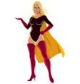 superheroine presenting vector image vector image