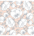 tender simple rose flower seamless pattern vector image vector image