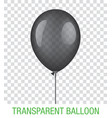 transparent black ballon vector image vector image