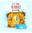 Travel Concept With Suitcase vector image vector image