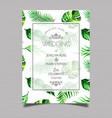 tropical wedding invitation card vector image vector image