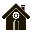 turn on button smart house icon simple style vector image vector image