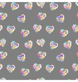 Valentine diamond seamless pattern vector image vector image