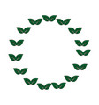 wreath of leaves icon vector image vector image