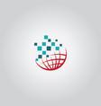 globe tech logo vector image