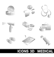 Icon Set medical 3D vector image