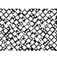 black and white seamless pattern with squares vector image