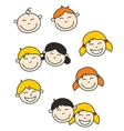 Happy kids and baby isolated on white background vector image