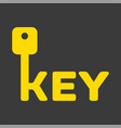key logo with letter k vector image