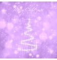 Christmas Tree Of Light And Snow Flakes vector image