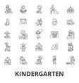 kindergarten preschool teacher nursery vector image