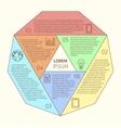 Polygonal infographic diagram vector image
