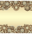 abstract floral decorative background Template vector image vector image