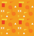 abstract shapes bright seamless pattern vector image vector image