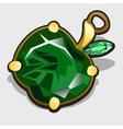 Accessory apple made of precious stones emerald vector image vector image