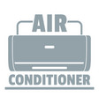 air conditioner logo simple gray style vector image vector image