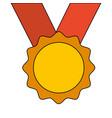 award medal ribbon winner sport vector image