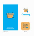 basket company logo app icon and splash page vector image vector image