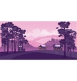 Beautiful contryside nature landscape vector image vector image