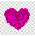 big pink heart made of small hearts isolated on vector image