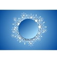 Blue modern Christmas snowflakes background vector image