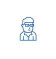 businessman avatar with glasses line icon concept vector image vector image