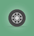 car wheel with tyre modern flat icon on vector image vector image