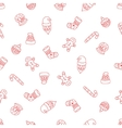 Christmas seamless background of Doodle vector image