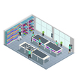 Clothes Factory Isometric Composition vector image vector image