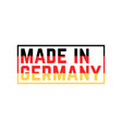 colored made in germany icon vector image vector image