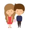 couple dressed party style in love vector image