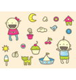 cute stickers for children vector image vector image