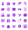 e-commerce gradient icons on white background vector image