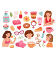 female self care love it confident woman loved vector image vector image