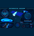 futuristic graphic interface satellite car gps vector image vector image