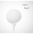 golf ball on tee vector image vector image