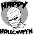 halloween mummy vector image vector image