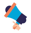 hand holding megaphone advertising vector image vector image