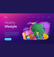 healthy lifestyle landing page vector image