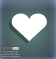 Heart Love icon symbol on the blue-green abstract vector image vector image