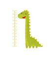 height chart for measuring kids growth with vector image vector image