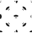 hot air balloon with gondola basket pattern vector image vector image